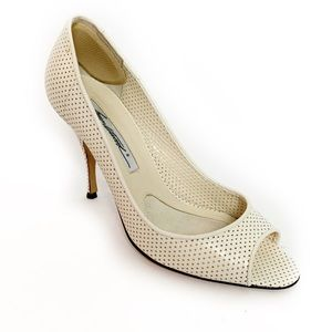 BRIAN ATWOOD Perforated Leather Pumps